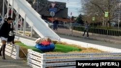 Горка на площади Нахимова в Севастополе