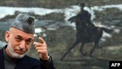 Президент Афганистана Хамид Карзай. Кабул, 16 ноября 2013 года.