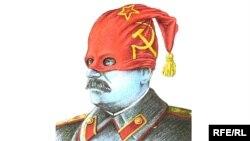 Антисталинская работа художника-карикатуриста Михаила Златковского также представлена на выставке в Доме журналиста