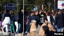Евакуація людей з лікарні в місті Рієті, Італія, 30 жовтня 2016 року