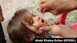 من حملة تلقيح ضد مرض شلل الاطفال في دهوك