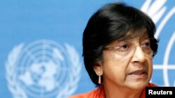 Outgoing UN High Commissioner for Human Rights Navi Pillay accuses the Security Council of putting political interests ahead of human rights violations.