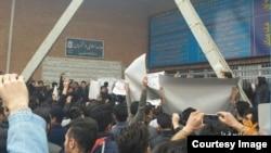 اعتراض به «فیتیله» در دانشگاه تبریز،آبان سال گذشته