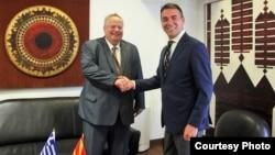 Архивска фотографија - Средба на министрите за надворешни работи на Грција и на Македонија, Никос Коѕијас и Никола Димитров