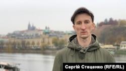 Олександр Кольченко у Празі, 12 листопада 2019 року