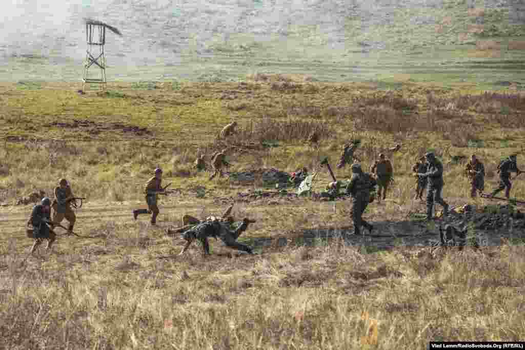 Захоплення німецьких позицій радянськими солдатами