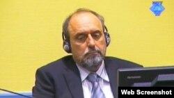 Goran Hadžić u sudnici, oktobar 2012.