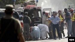 Пакистан - Бадабер авиабазасындагы чабуулдан кийин, 18-сентябрь, 2015.