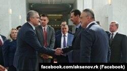 Встреча главы российского правительства Крыма Сергея Аксенова с президентом Сирии Башаром Асадом, Дамаск, 16 октября 2018 года
