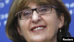 Сыртқы істер министрі қызметіне ұсынылған Майя Панджикидзе. Тбилиси, 8 қазан 2012 жыл.