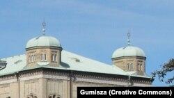 Acoperișul sinagogii din Göteborg.