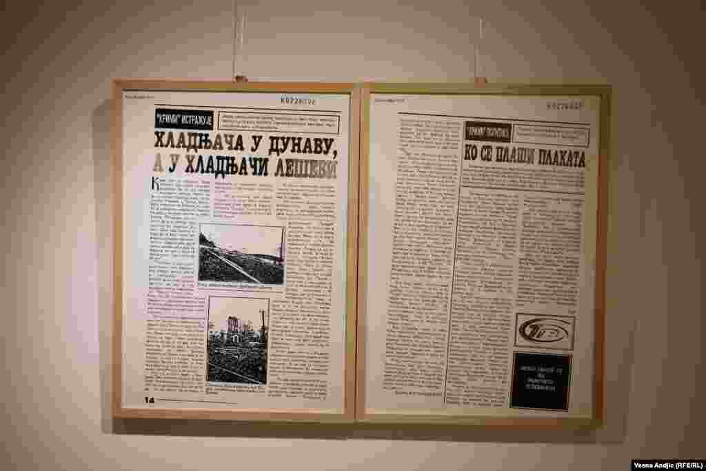 U arhivi su se našli i tekstovi lista 'TImočka krimi revija' koji je prvi objavio vest o pronađenoj hladnjači sa telima kosovskih Albanaca, koja su kasnije premeštena u Batajnicu.