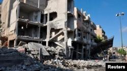 На місці вибуху в районі Баб-Тадмур у Хомсі, 5 вересня 2016 року