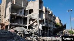 Последствия взрыва 5 сентября в Хомсе