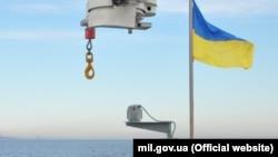 Судно с украинским флагом, иллюстративное фото