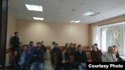 Сторонники Навального и пресса на процессе по делу Лилии Чанышевой
