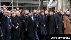 Лидеры государств мира на Марше солидарности в Париже 11 января