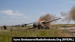Ілюстраційне фото. На військовому полігоні під Мариуполем пройшли артилерійські навчання, 30 червня 2017 року