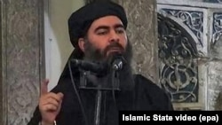 A video posted on a militant website in July 2014 shows the leader of the Islamic State group, Abu Bakr al-Baghdadi, delivering a sermon at a mosque in Iraq.