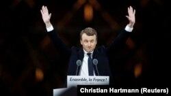 Fransiýada prezident saýlanan Emmanuel Makron, Pariž, 7-nji maý.