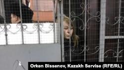 "Репортер ""Настоящего времени"" Светлана Глушкова в полиции, Астана, 22 марта 2019 года."