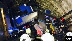 На месте аварии в московском метро 15 июля 2014 года