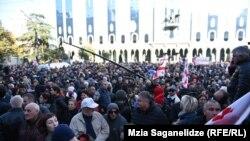 تظاهرات در تبلیسی پایتخت گرجستان