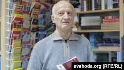 Алесь Разанаў на прэзэнтацыі кнігі ў 2017 годзе