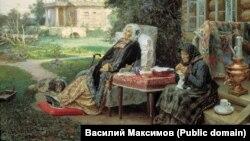 «Усё мінула», Васіль Максімаў, 1889, фрагмэнт