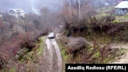 Дорога в селе Хамармеше Лерикского района