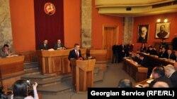 უსაფრთხოების კონცეფციის განხილვა პარლამეტში, 18 თებერვალი