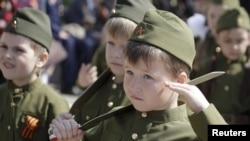 Preschool Paratroopers March Across Russian Towns