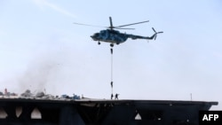 په فارس خلیج کې د ایران بحري پوځي تمرینونه.