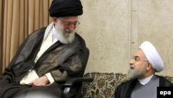 Iranian Supreme Leader Ayatollah Ali Khamenei (left) and Iranian President Hassan Rohani (file photo)