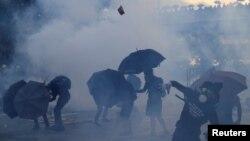 Столкновения в Гонконге.