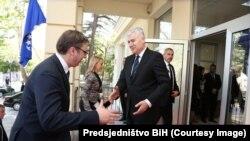 Aleksandar Vučić u posjeti Draganu Čoviću u Mostaru, april 2016.