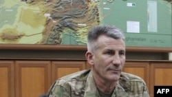 The U.S. commander in Afghanistan, General John Nicholson (file photo)