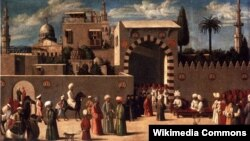 """""""Прием послов в Дамаске"""", 1511 год"""