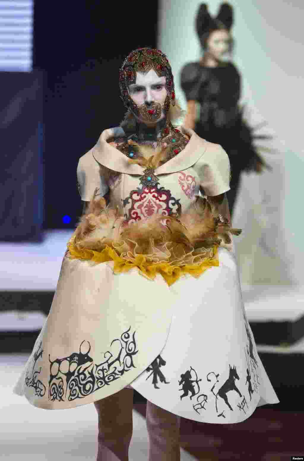 Aidar Akhmetov raised eyebrows with this unusual dress.