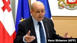 Министр иностранных дел Франции Жан-Ив Ле Дриан в Тбилиси, 26 мая 2018 г․