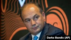 """Kosovar Deputy Prime Minister Enver Hoxhaj said the move to tackle the denial of war crimes was intended to """"punish such declarations by Kosovo Serbs."""" (file photo)"""