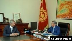 Almazbek Atambayev and Nikolay Bordyuzha