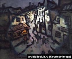 "Картина ""Вечер на Монмартре"" Оскара Рабина"
