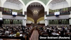 President Ashraf Ghani's office told RFE/RL that two of the senators were dismissed from their seats in the upper house of parliament. (file photo)