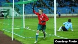 Футбол. Беларусь-Албанія. Віталь Радыёнаў толькі што адкрыў лік