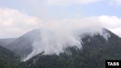 Очередной лесной пожар в России