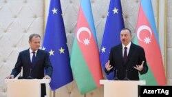 İlham Əliyev və Donald Tusk