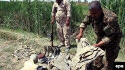 Pamje pas masakrës në bazën ushtarake Speicher, Irak
