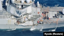 The USS Fitzgerald was damaged by colliding with a Philippine-flagged merchant vessel.