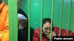 Задержанный активист Евромайдана в суде, 24 января 2014